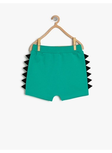 Koton Kids İşlemeli Şort Yeşil